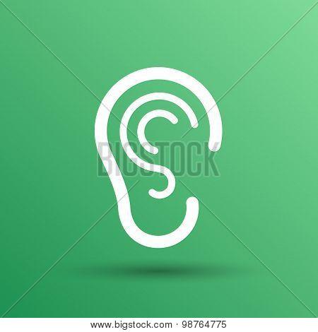 ear icon listen vector hear deaf human sign