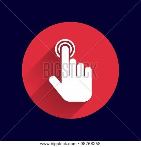 click. hand icon pointer. vector finger pointer