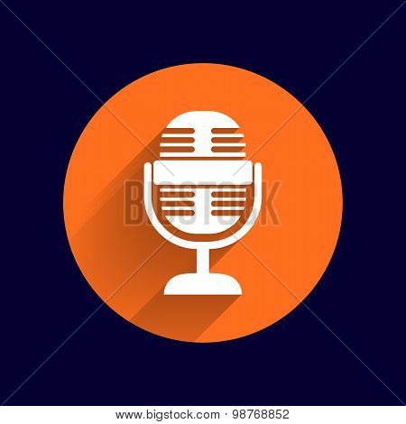 microphone icon broadcasting isolated broadcast journalist record . poster