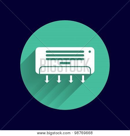 Air Conditioner Temperature icon celsius cold technology. poster