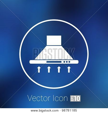 Kitchen hood  icon symbol extractor vector sign