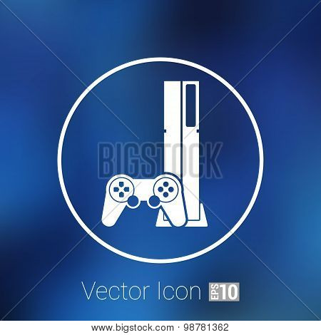 Game controller icon video gaming game electronics. poster