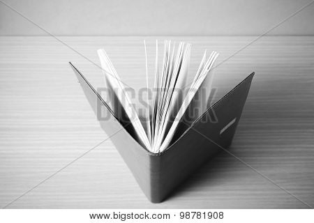 Brown Notebook Black And White Color Tone Style