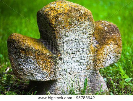 Old Moss-grown Stone Cross