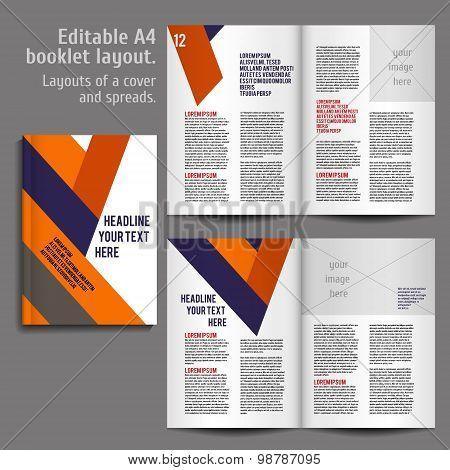 A4 book  Layout Design Template
