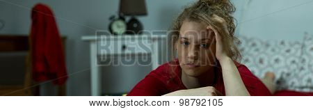 Exasperated Young Woman
