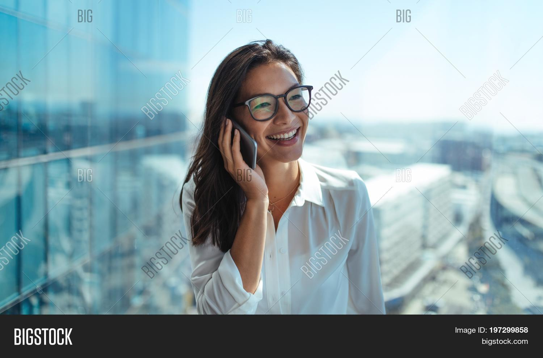 Happy Businesswoman Image Photo Free Trial Bigstock