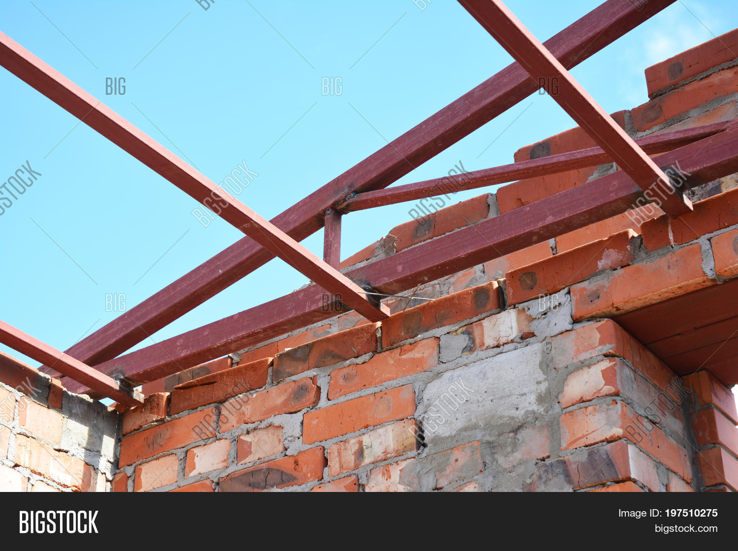 Steel Roof Trusses Image Photo Free Trial Bigstock