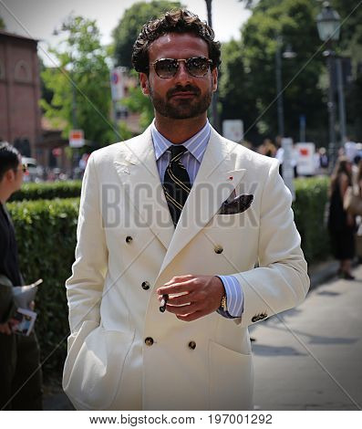 FLORENCE- 13 June 2017 Giorgio Giangiulio on the street during the Pitti