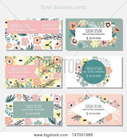 Beautiful floral business card template.Complied with the standard sizes.