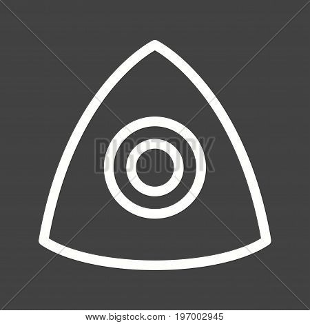 Chalk, tailors, cloth icon vector image. Can also be used for Sewing. Suitable for mobile apps, web apps and print media.