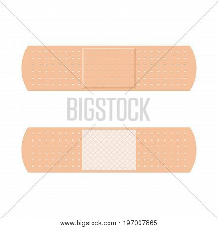 Aid band plaster strips set symbol. Vector illustration to flat style design isolated on white background