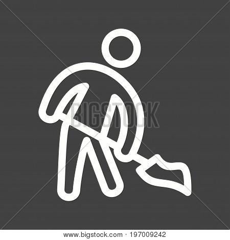 Floor, man, sweeping icon vector image. Can also be used for Cleaning Services. Suitable for mobile apps, web apps and print media.
