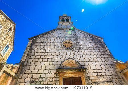 Scenic view at old architecture in Dalmatia region, Island Hvar.