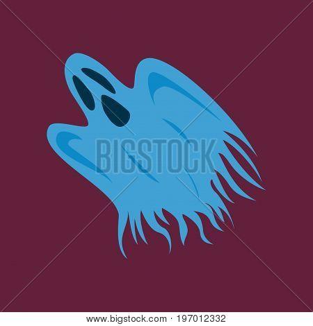 flat illustration on stylish background of ghost