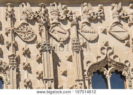 Jabalquinto Palace facade details Baeza in Spain