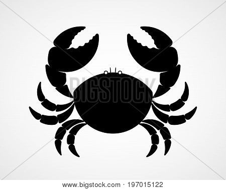 Vector black and white crab silhouette. Eps8. RGB Global color