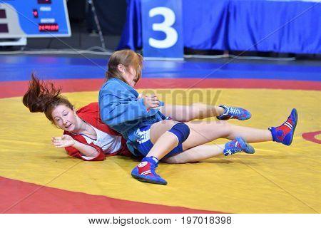 Orenburg, Russia - 29 October 2016: Girls Compete In Sambo