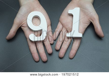 To Female Hands The Figure Of Ninety-one.