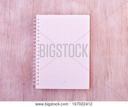 Empty Notebook On Table