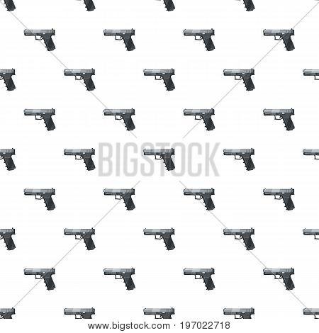 Gun pattern seamless repeat in cartoon style vector illustration