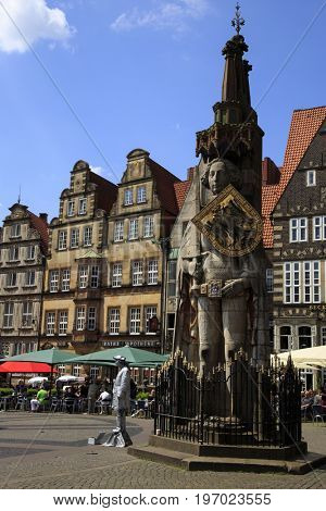 BREMEN,GERMANY - JUNE, 4: Visiting Bremen, a major cultural and economic hub in the northern regions of Germany on June, 4. 2016