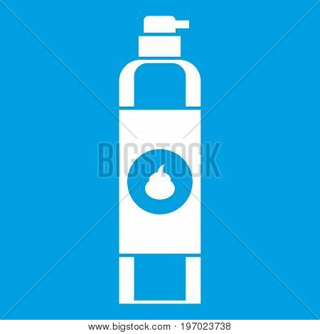 Air freshener icon white isolated on blue background vector illustration