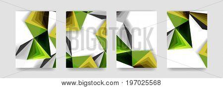 Minimal covers background set, geometric futurisrtic style