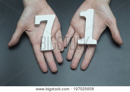 To Female Hands The Figure Of Seventy-one.