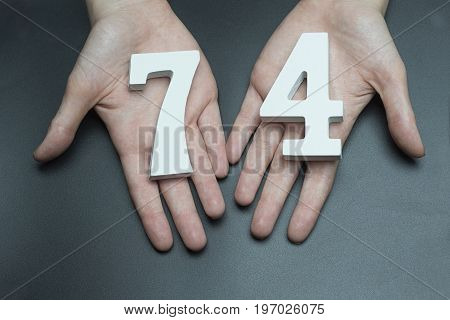 To Female Hands The Figure Of Seventy-four.