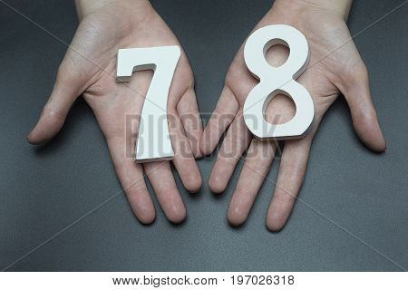 To Female Hands The Figure Of Seventy-eight.