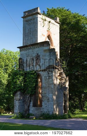 Ruins of the former venue at the Park an der Ilm Weimar Thuringia Germany