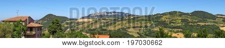 View of the San Marino from the San Leo city