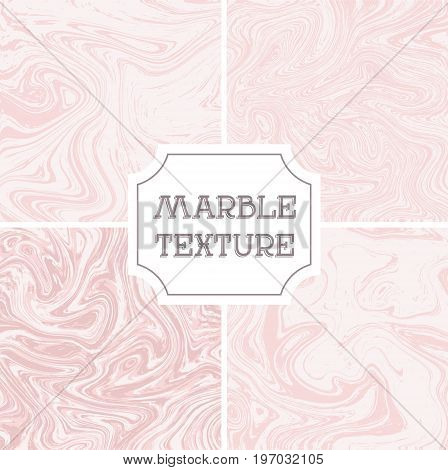 Light white and pink marble texture. Vector liquid background, template, texture