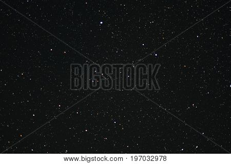 Night sky for a long time. Many stars on the night sky. Space and stars. Soft focus.