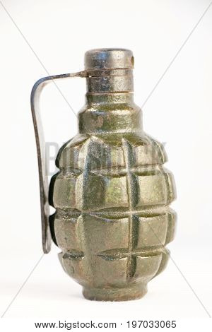 not real Mk 2 hand grenade with white backgraund