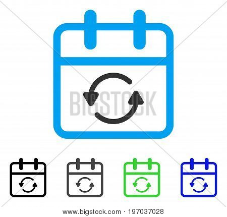 Update Day flat vector pictograph. Colored update day gray, black, blue, green pictogram variants. Flat icon style for web design.