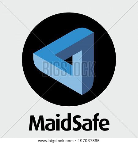 MaidSafe (MAID) decentralized blockchain  criptocurrency network vector logo.