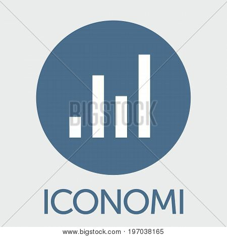 Iconomi (ICN) decentralized blockchain  criptocurrency platform vector logo.