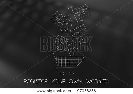 Shopping Cart With Pop-up Windows About Custom Website Components