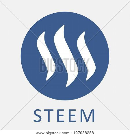 STEEM decentralized blockchain-based social media platform criptocurrency vector logo.