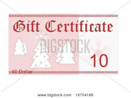 Gift Certificate 10 Dollar