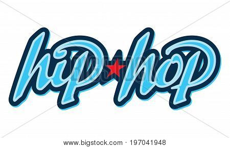 Hip-Hop Lettering. Design element isolated on white