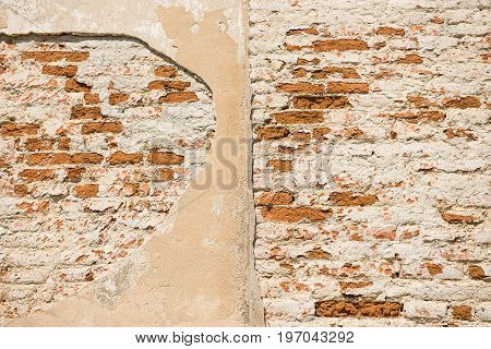 An ancient brick stone wall texture background