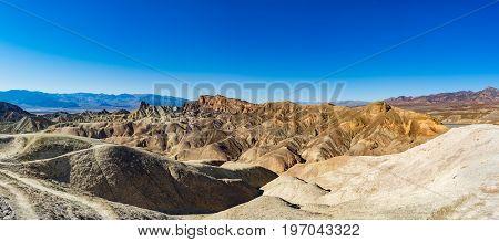 Eroded Mountain Ridges, Death Valley National Park, California