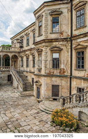 An architectural ensemble of the ancient Podgoretsky Castle in Ukraine.