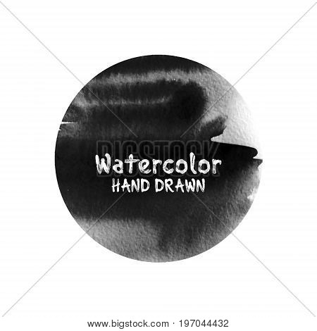 Dark abstract watercolor background with paper texture. Vector template for card poster banner print for t-shirt.