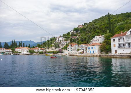 a tiny fishing village on the shore of the Mediterranean sea