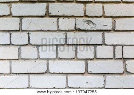 Wall of white brick. Brickwork. Textured background