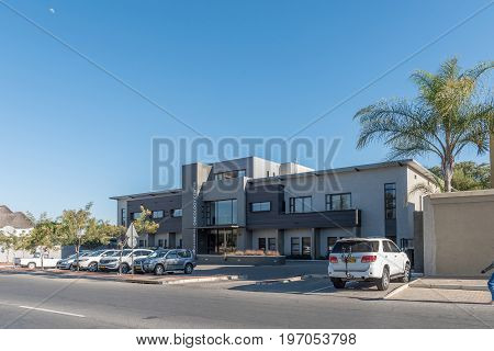 WINDHOEK NAMIBIA - JUNE 15 2017: An oncology centre in Eros a suburb of Windhoek the capital city of Namibia
